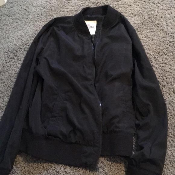 Hollister Jackets & Blazers - Plain black hollister bomber jacket
